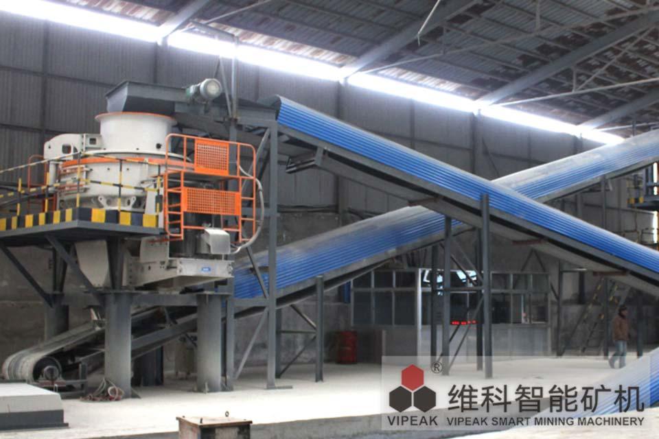 山東淄博VSI600制砂機生產現場