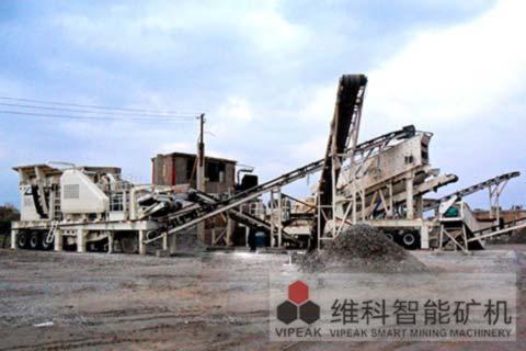 贵州建筑垃圾移动破碎站现场