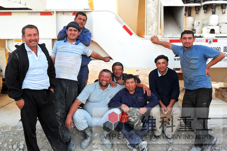 乌兹别克斯坦客户安装现场