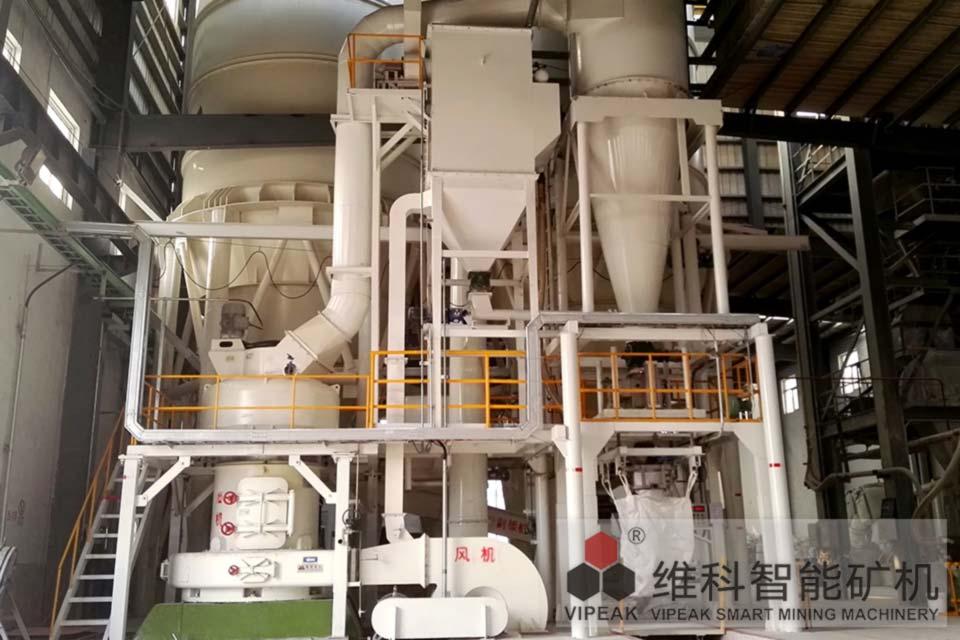 河南新乡心连心YCV130-S4超压V型磨粉机现场